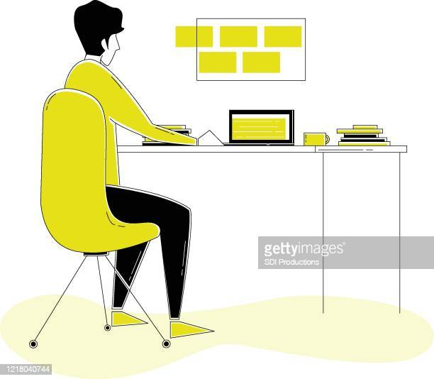 20200331_ill_workfromhomevector_videoeditorworkspace - バーチャルイベント点のイラスト素材/クリップアート素材/マンガ素材/アイコン素材