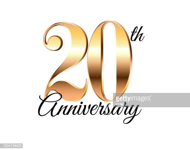 20周年記念 - 結婚記念日のカード点のイラスト素材/クリップアート素材/マンガ素材/アイコン素材