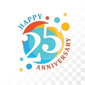 25th Anniversary emblem.
