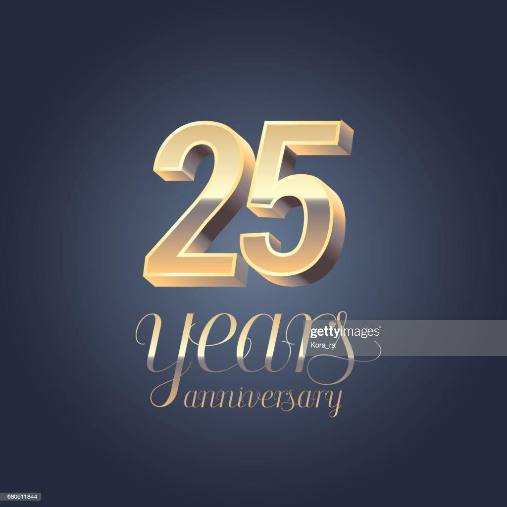 25th anniversary vector icon