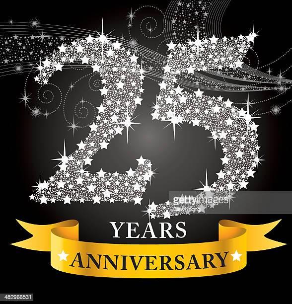 25th anniversary - 25 29 years stock illustrations