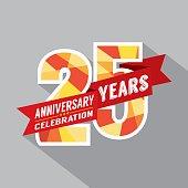 25th Years Anniversary Celebration Design