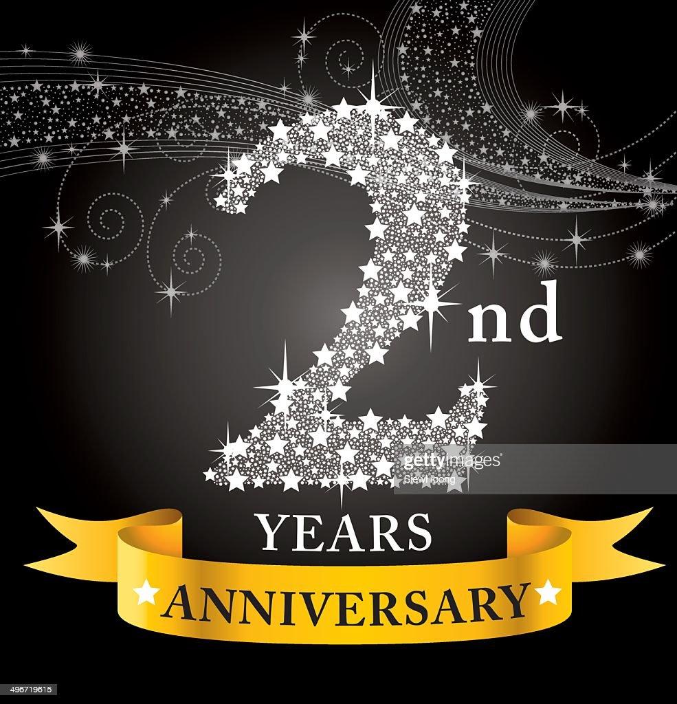 2nd Anniversary Stock Illustration