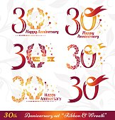 30th anniversary emblems