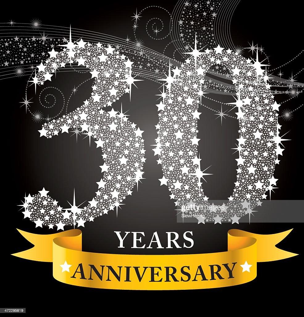 30th Anniversary : stock illustration