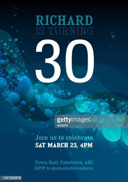 30歳の誕生日の招待状 - 30歳の誕生日点のイラスト素材/クリップアート素材/マンガ素材/アイコン素材
