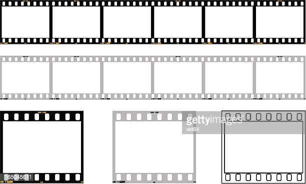 35mm film strip - film stock illustrations