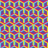 3d abstract geometric seamless background. Vector illustration.