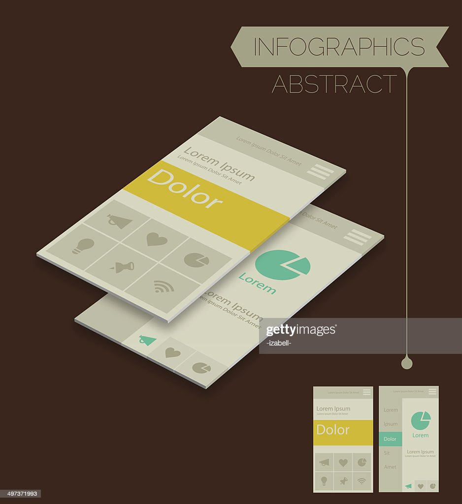 3d Abstract Infographics Template