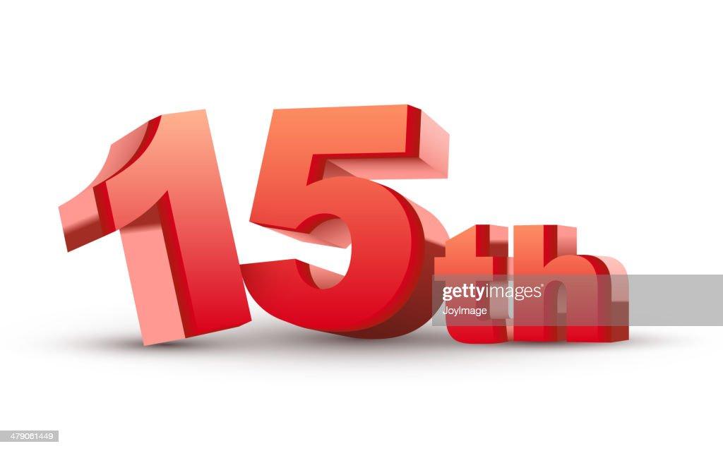 3d anniversary, 15th