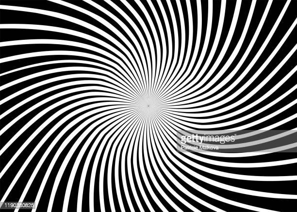 3d black and white twisted background, modern design geometric composition, distorted effect - spiral stock illustrations