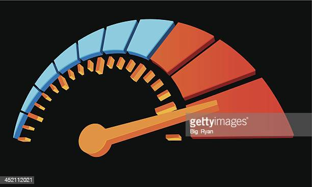 3d dial - speedometer stock illustrations