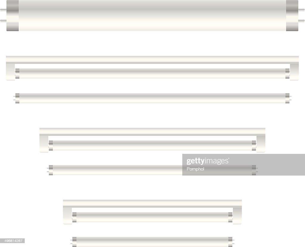 3d fluorescent light vector