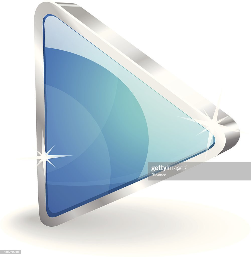 3d Glossy Play Button Vector Icon