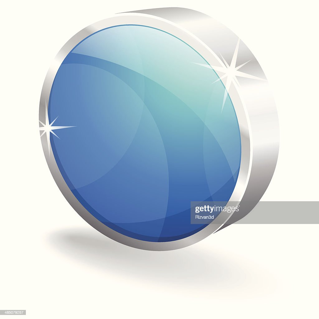 3d Glossy Round Record Button Vector Icon