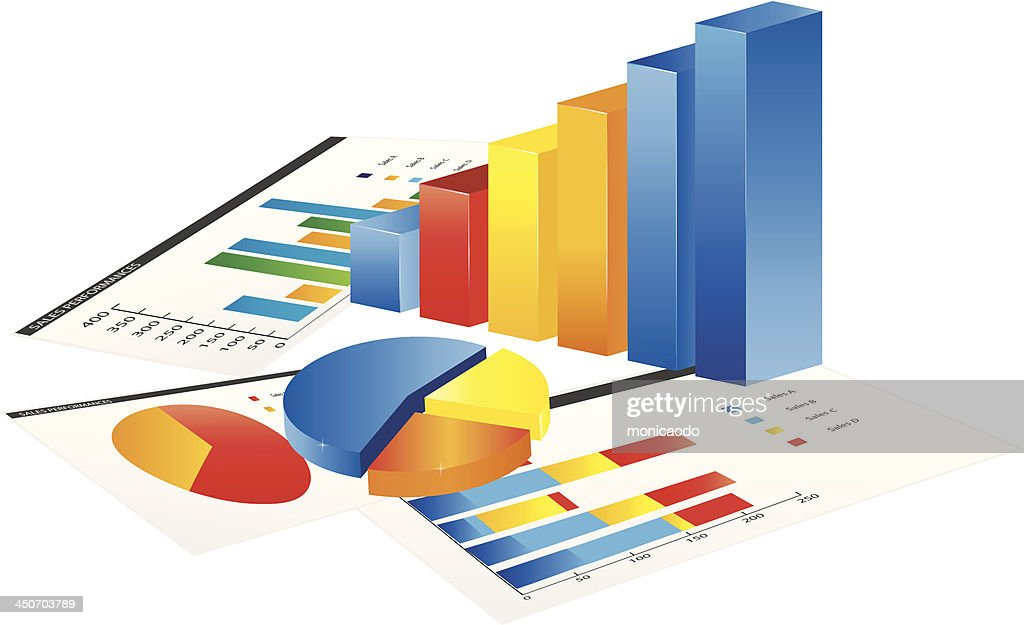 3d Graph And A Paper Stock Illustration - Getty Images