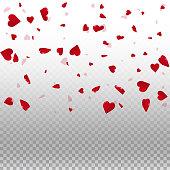 3d hearts valentine background.