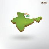 3d india map