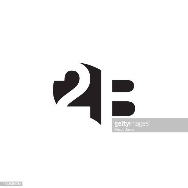 stockillustraties, clipart, cartoons en iconen met 3d-logo - letter b