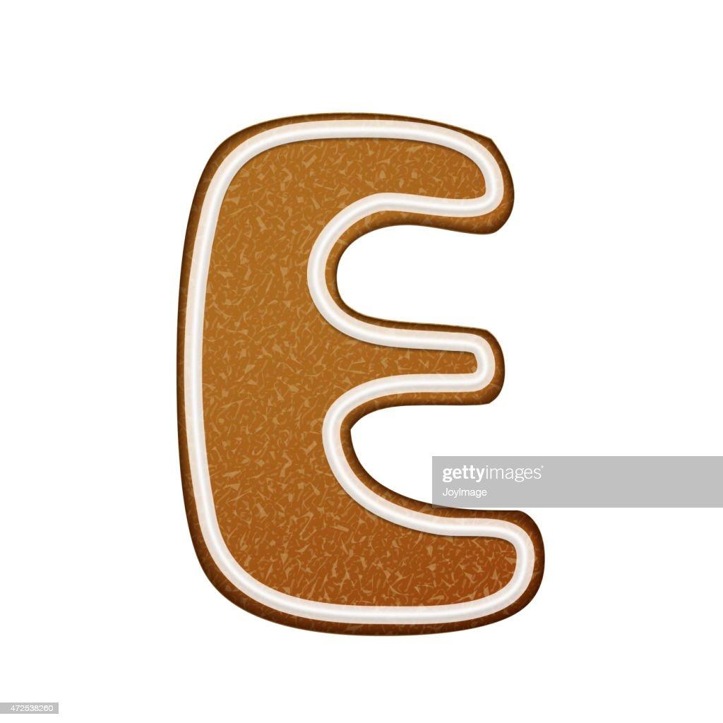 3d lovely gingerbread cookie alphabet e vector art getty images 3d lovely gingerbread cookie alphabet e vector art altavistaventures Images