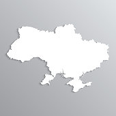 3d map of Ukraine.