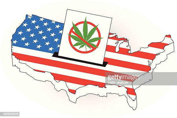 3d map of usa - recreational drug stock illustrations, clip art, cartoons, & icons