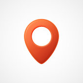 3d Map pointer icon. Map Markers