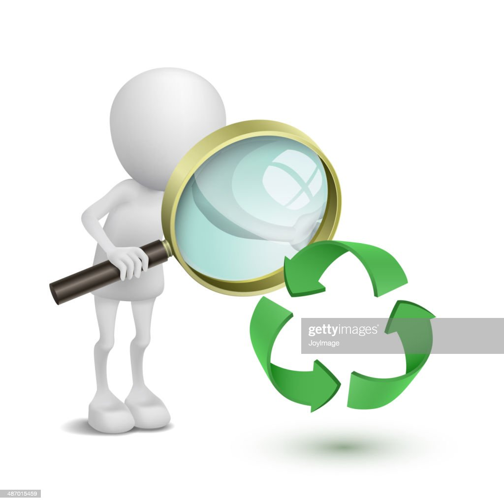 3d Person Watching The Recycling Symbol Vector Art Getty Images
