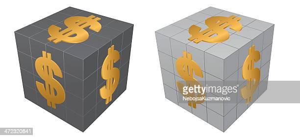 60点のルービックキューブのイラスト素材クリップアート素材マンガ