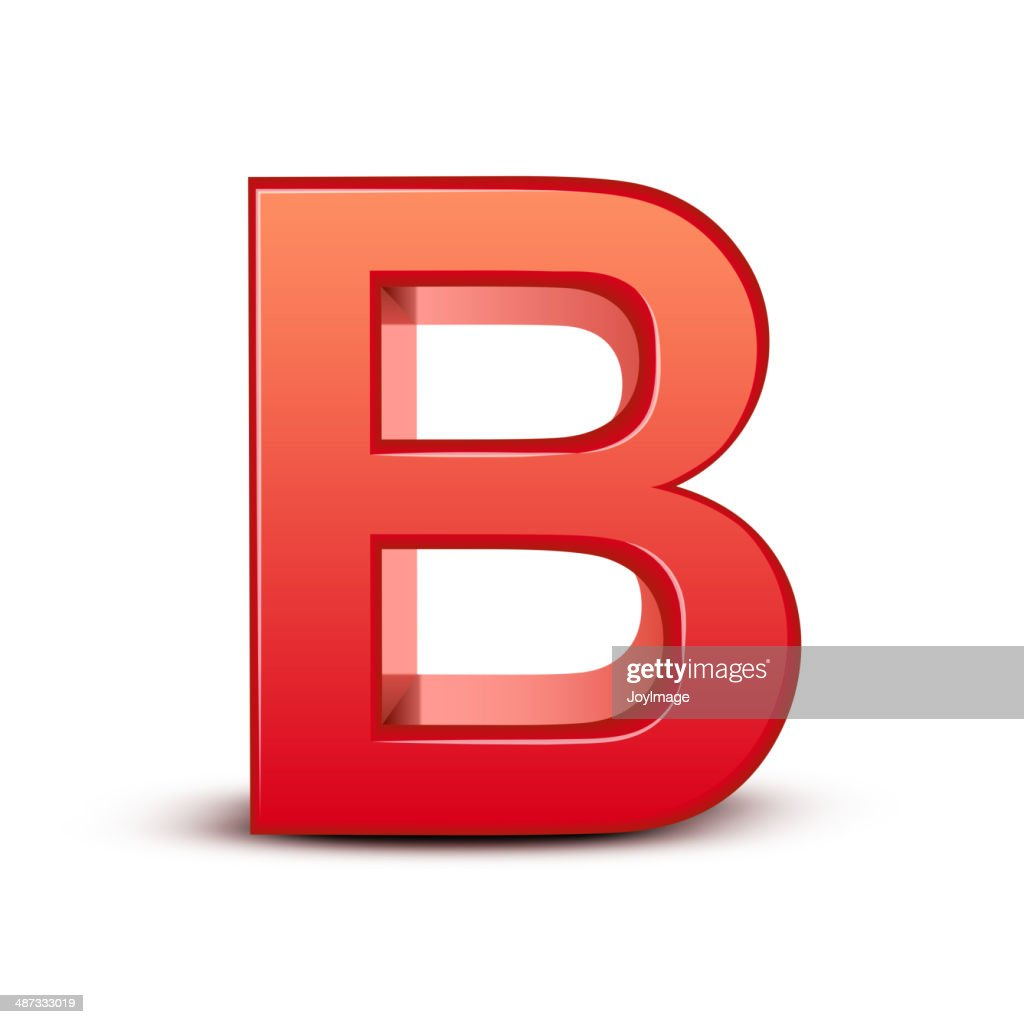 3d red letter B