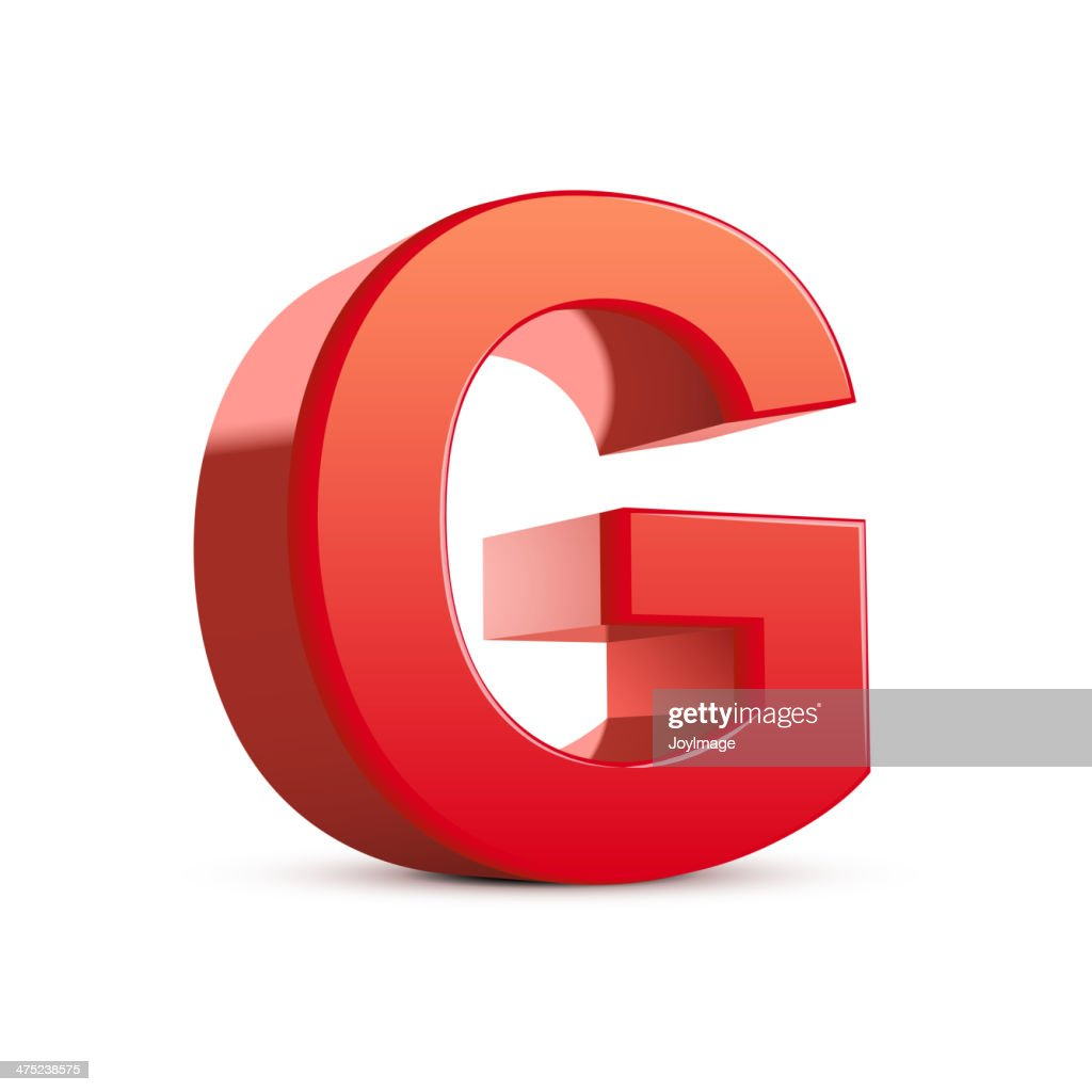 3d red letter G