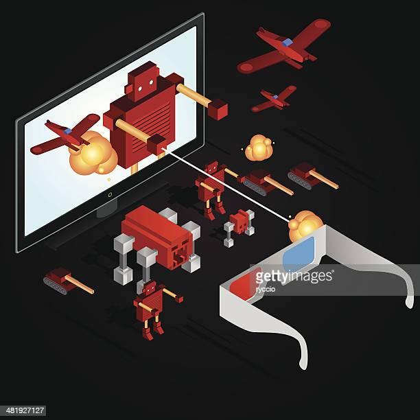 3 d televisão Guerra