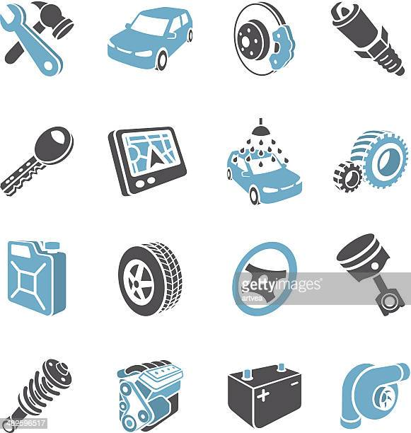 3d transport icons - car battery stock illustrations, clip art, cartoons, & icons