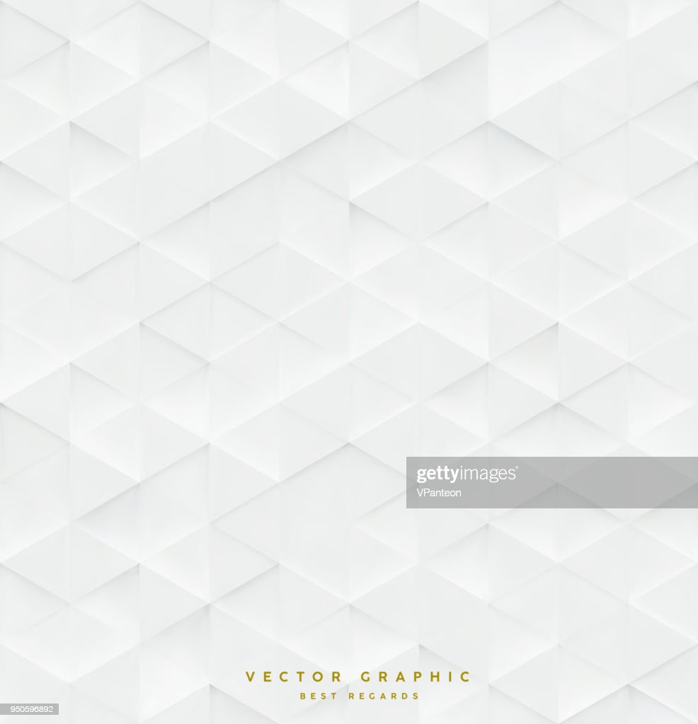3d Triangle seamless vector pattern, business background