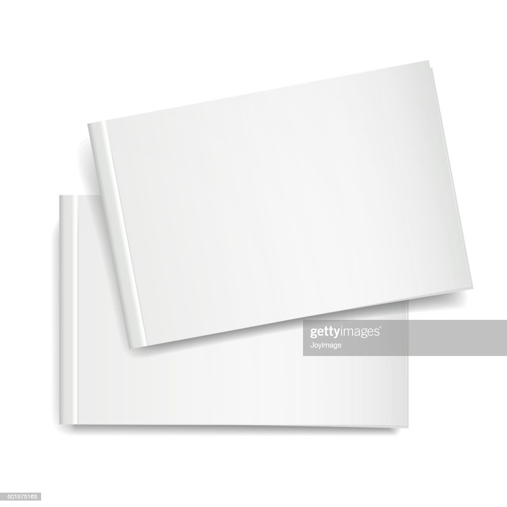 3d vector blank book cover