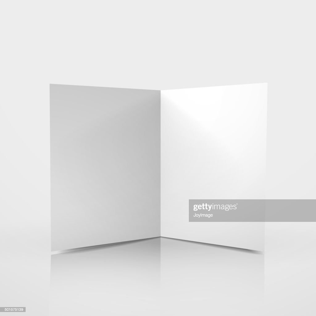 3d vector blank card template