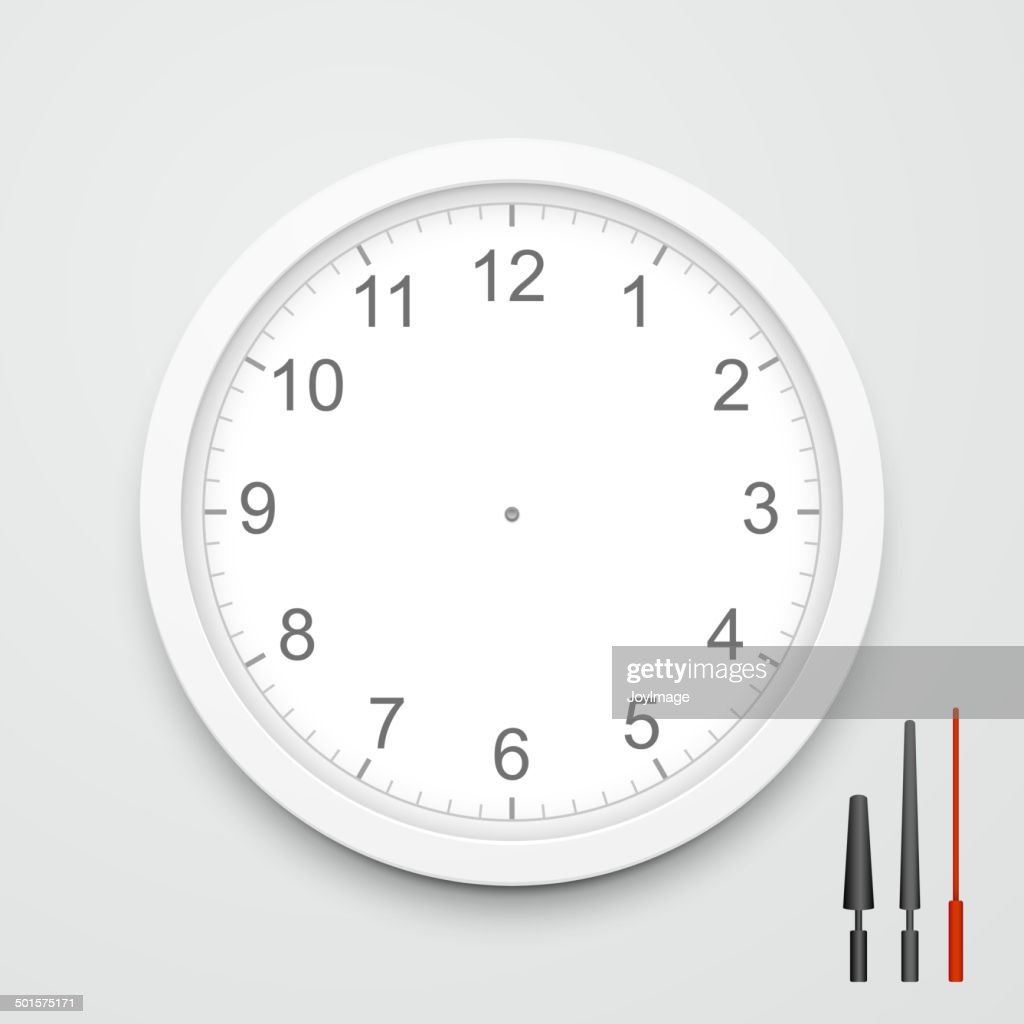 3d vector blank clock face