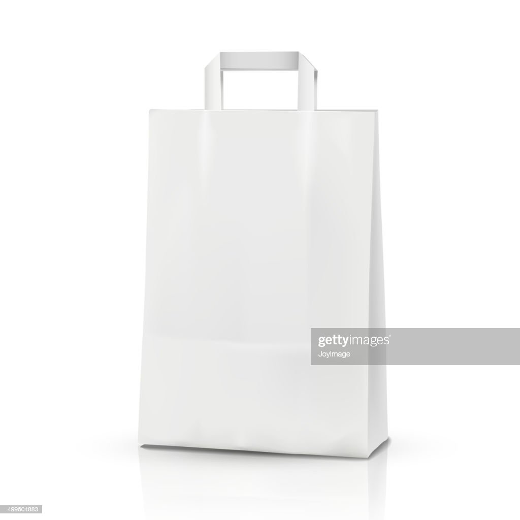 3d vector blank template, 3d shopping bag