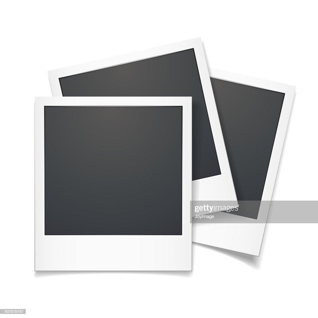 3d vector polaroid photo frame