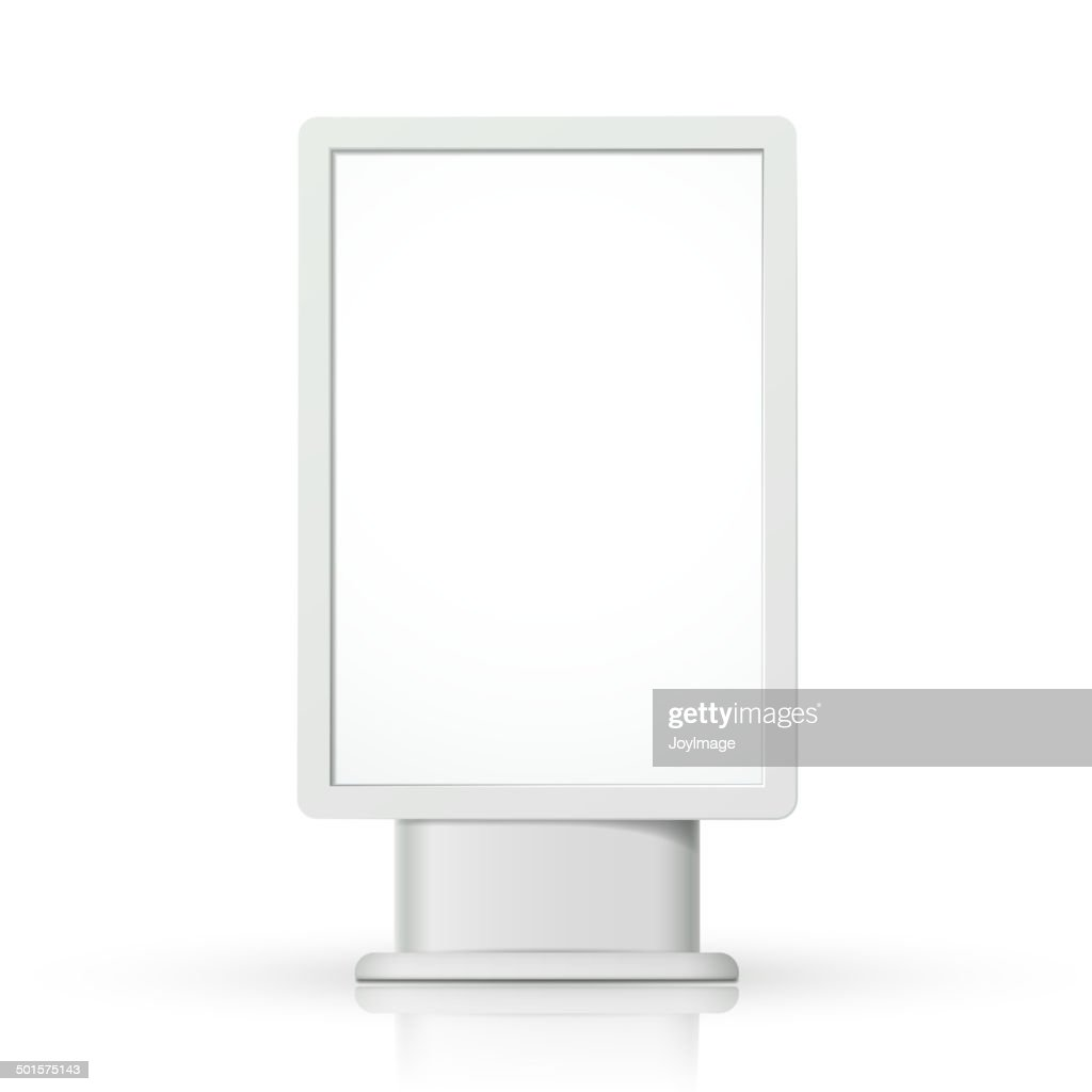 3d vector vertical blank lightbox template