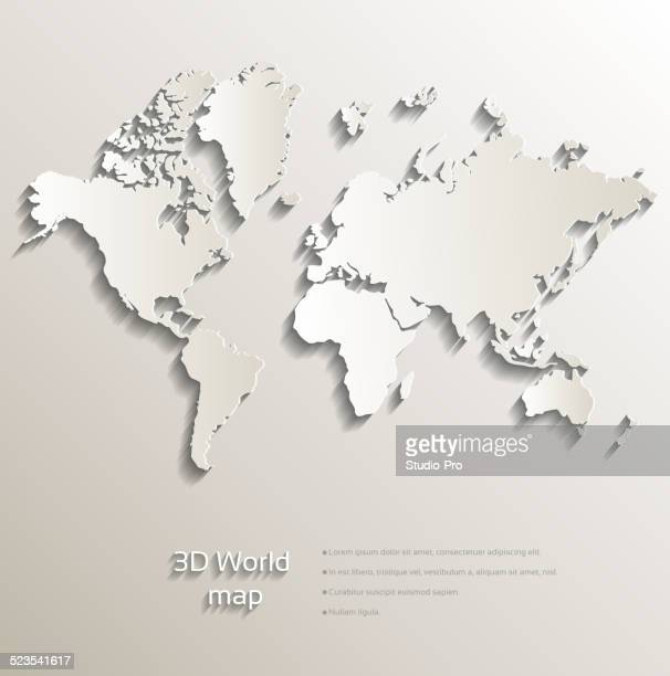 3d world map - south america stock illustrations