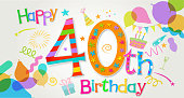 40th Birthday Greeting