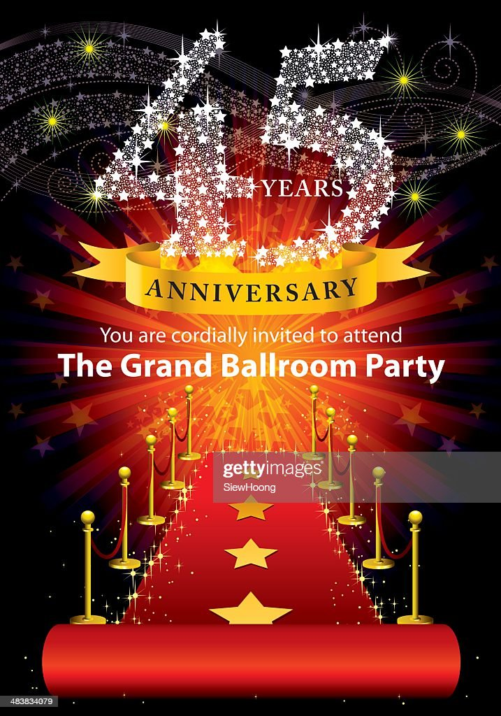 45th Anniversary Party : stock illustration