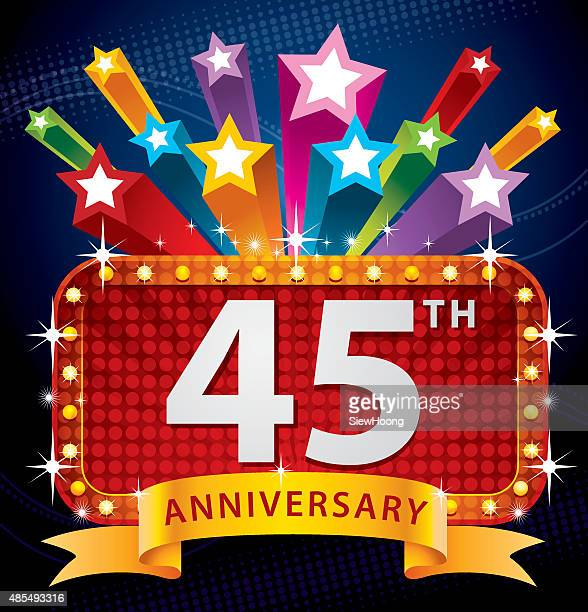45th anniversary - 45 49 years stock illustrations, clip art, cartoons, & icons