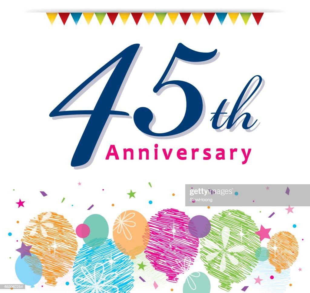 45th Anniversary : stock illustration