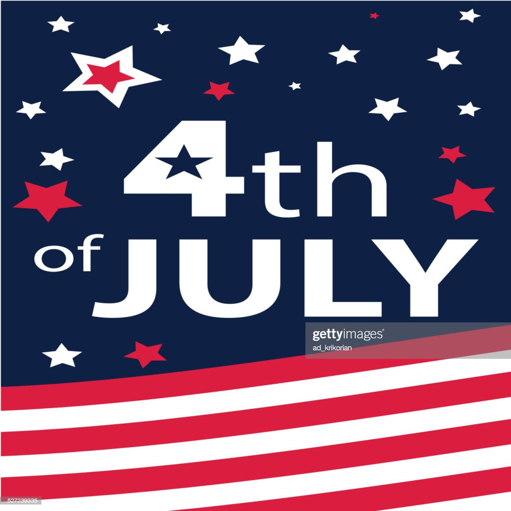 4h of july, USA Flag, American Abstract Background (Vector Art)