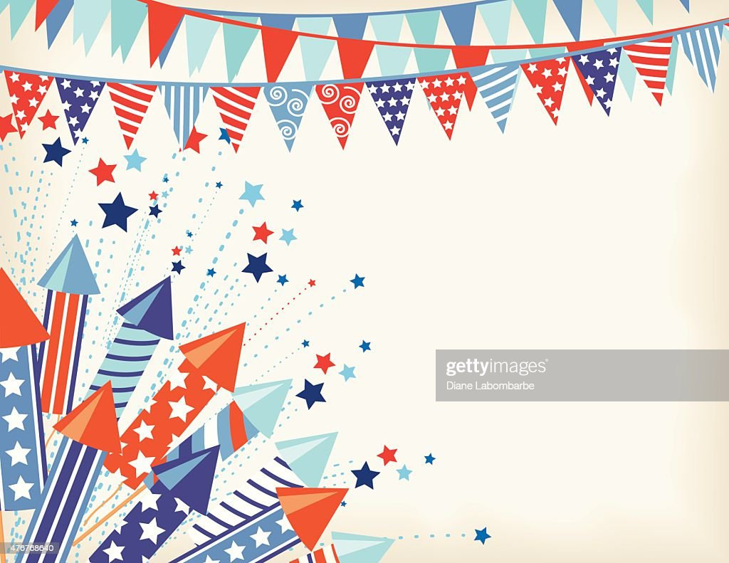 4th of july background vector art