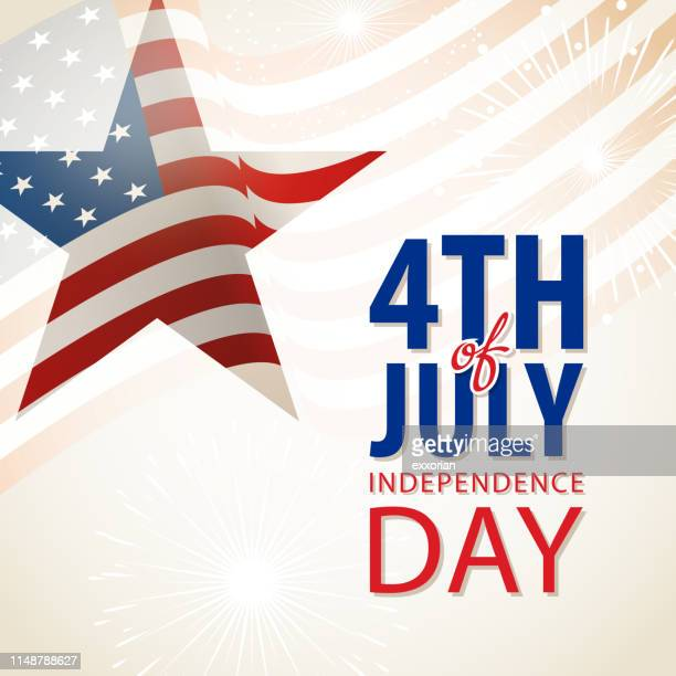 4th of july celebration - declaration of independence stock illustrations, clip art, cartoons, & icons