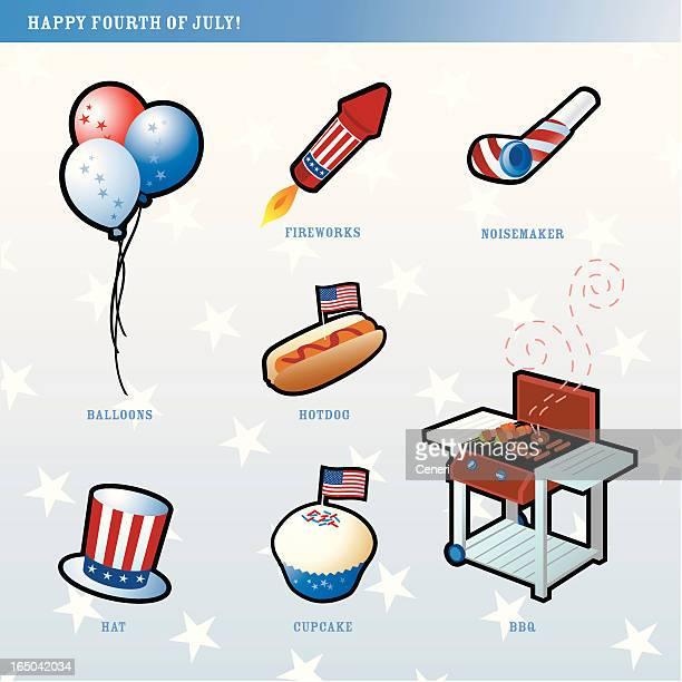 4th of july elements - arugula stock illustrations, clip art, cartoons, & icons