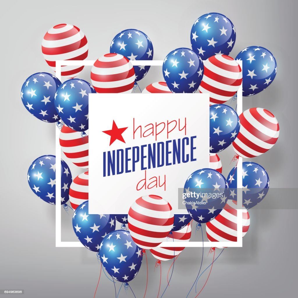 4th of July, United Stated independence day, USA flag Balloons